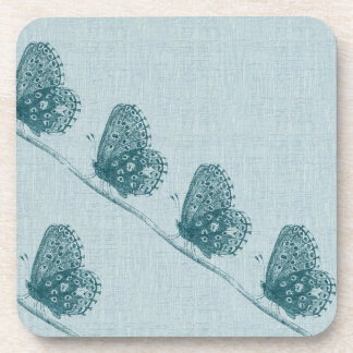 Line of Butterflies Drink Coasters