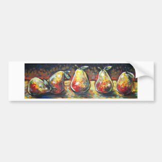 LINE OF PEARS BUMPER STICKER