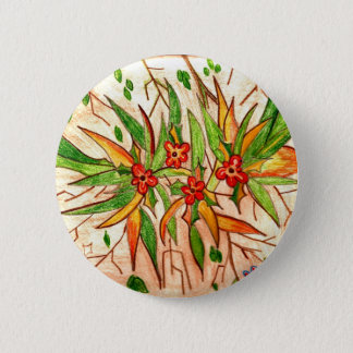 Line of Products Tropical Flowers 6 Cm Round Badge