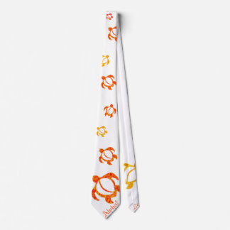 LineA Aloha! Orange Honu Tie