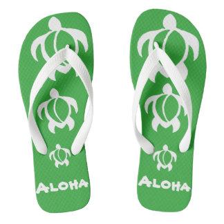 """LineA """"Aloha"""" White Honu Thongs"""