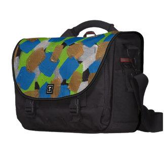 LineA Contemporary Art Lime Green& Blue Bag For Laptop