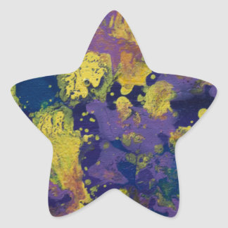 LineA Contemporary Art Painting Star Sticker