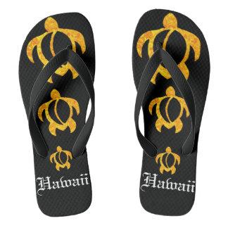 LineA Golden Lava Honu Hawaii Thongs