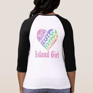 LineA Island Girl Heart Tattoo T-Shirt