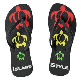 LineA Island Style Rasta Honu Thongs