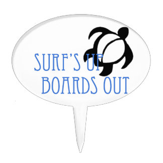 LineA Surf's Up Boards Out Cake Pick