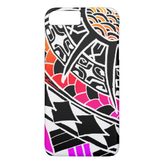 LineA White Polynesian Tattoo iPhone 8 Plus/7 Plus Case