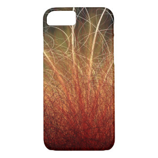 Linear Abstract2 Warm Colors - Apple iPhone Case