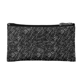 Linear Abstract Black and White Cosmetic Bag