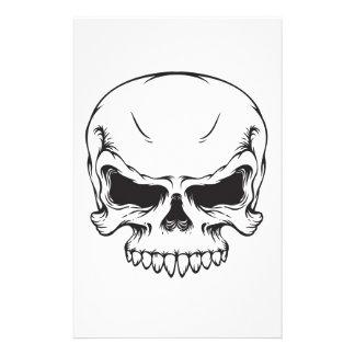 Lineart skull vintage graphics Scary horror art Stationery