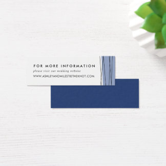 Lineation Wedding Website Cards | Steel Blue
