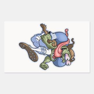Linebacker Lenny Rectangular Sticker