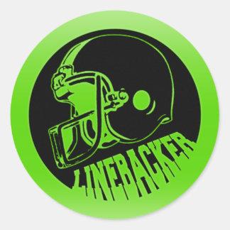 Linebacker Round Sticker
