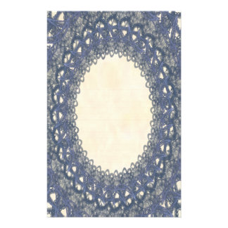 Lined Blue Lace p2 Stationery Pages