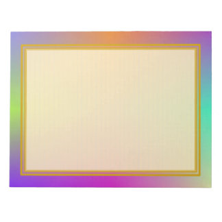 Lined Colorful Metallic 8.5x11 Note Pad