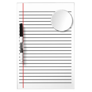 Lined Dry Erase Board