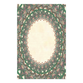 Lined Green Lace p2 Stationery Pages