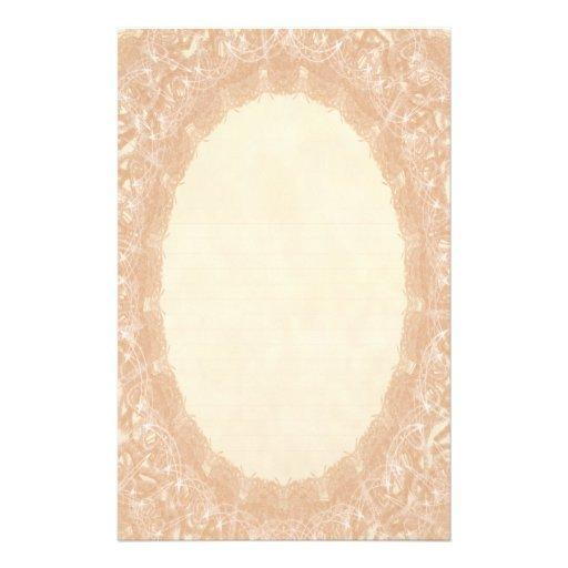 Lined Monogram Cream I Wedding Lace Stationery