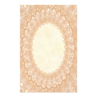 Lined Monogram Cream IV Wedding Lace Stationery