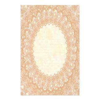 Lined Monogram Cream IV Wedding Lace Stationery