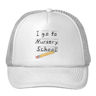 Lined Paper and Pencil Nursery School Cap