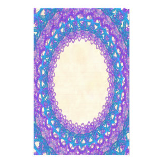 Lined Purple Blue Lace p2 Stationery Pages