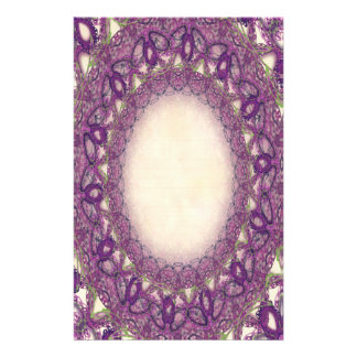 Lined Purple Butterfly Lace p2 Stationery Pages