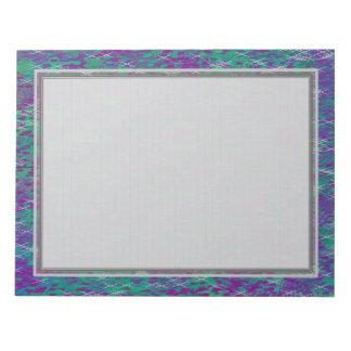 """Lined """"Purple Teal Silver"""" Note Pads"""