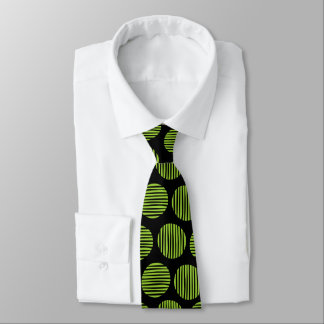Lined Spots 190917 - Martian Green and Black Tie