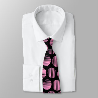 Lined Spots 190917 - Pink and Black Tie
