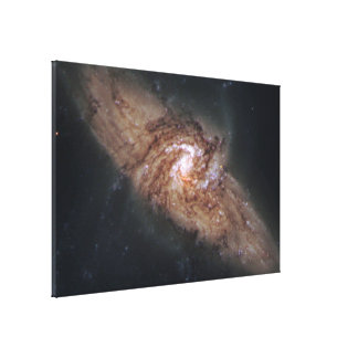 Lined-Up Galaxies Show Rare Details (NGC 3314) Canvas Print