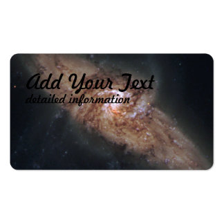 Lined-Up Galaxies Show Rare Details (NGC 3314) Pack Of Standard Business Cards