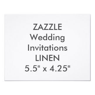 "LINEN 100lb 5.5"" x 4.25"" Wedding Invitations"