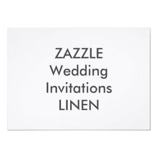 "LINEN 7"" x 5"" Wedding Invitations"