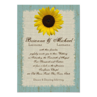 Linen and Barnwood Sunflower Card
