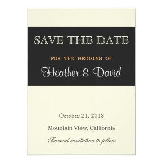 "Linen Beige Grey Save the Date Wedding Invitation 5.5"" X 7.5"" Invitation Card"