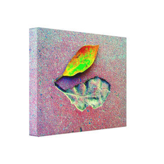 Linen cloth Asphalt Leaf Gallery Wrap Canvas