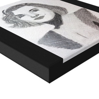 linen cloth gray scale canvas print