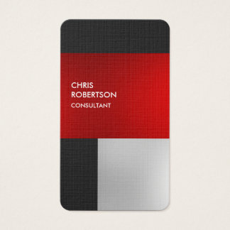 Linen Colorful Red Gray Rounded Profile Card