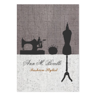 Linen Cute Fashion Stylist Mannequin Couture Pack Of Chubby Business Cards