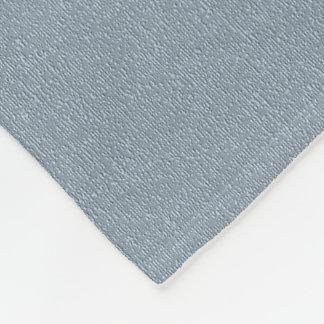 Linen Denim Effect Print Fleece Blanket
