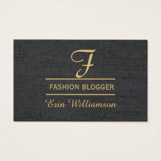 Linen Fashion Blogger Black Golden Minimal