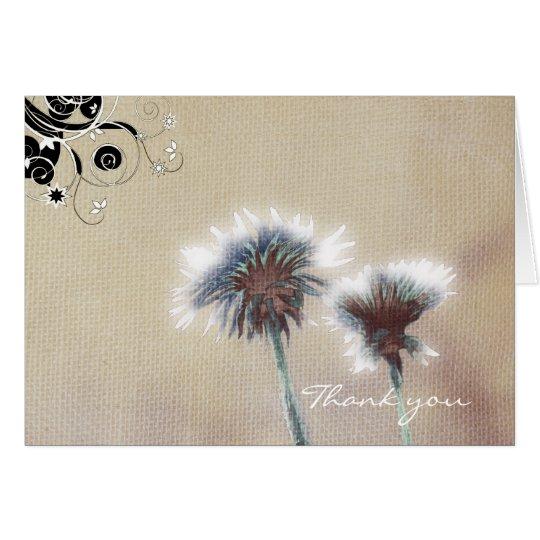 Linen flowers card