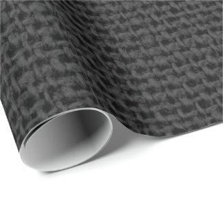 Linen Gray Black MinimalWedding Bridal Shower Wrapping Paper