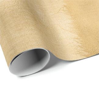Linen Jute Cloth Burlap Rustic Gold Minimal Wrapping Paper