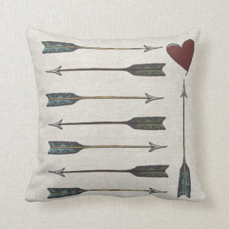 Linen Look Arrows Pillow