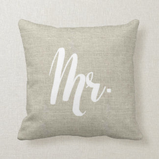 Linen Look Mr. Pillow