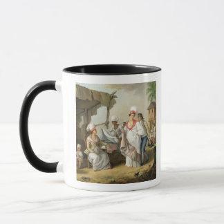Linen Market, Roseau, Dominica, c.1780 (oil on can Mug