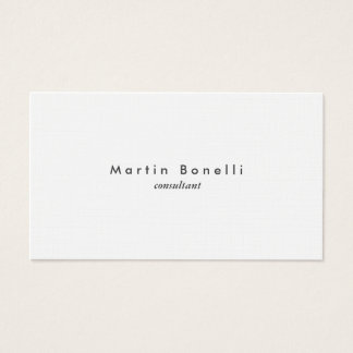 Linen Modern Minimalist Plain Simple Business Card